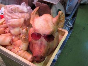 豚のチラガー(顔の皮) 画像