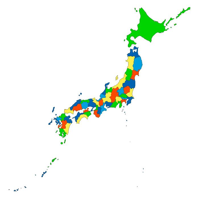 日本地図から探す