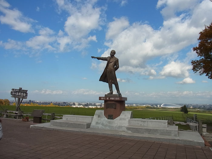 北海道大学の生みの親クラーク博士像(羊ヶ丘展望台)