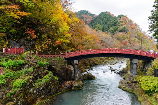 世界遺産エリアの入口にある神橋