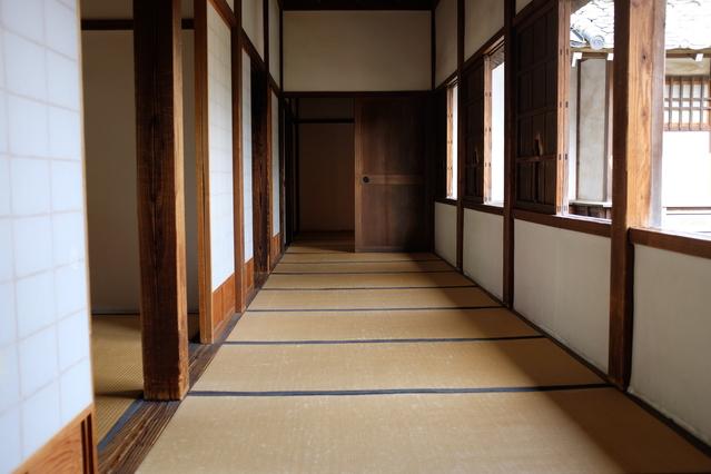 川越城の畳の廊下