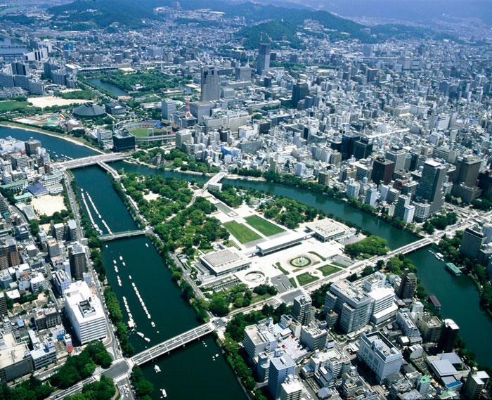 広島 平和公園 上空(写真提供:広島県)