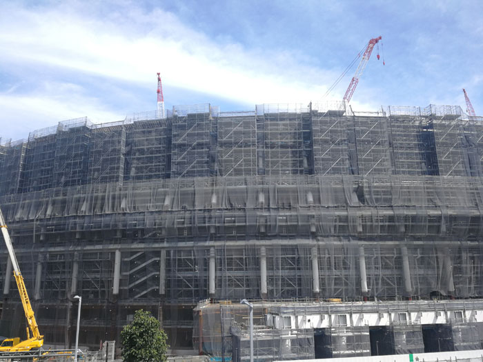 新国立競技場 建設中(2018年8月撮影)