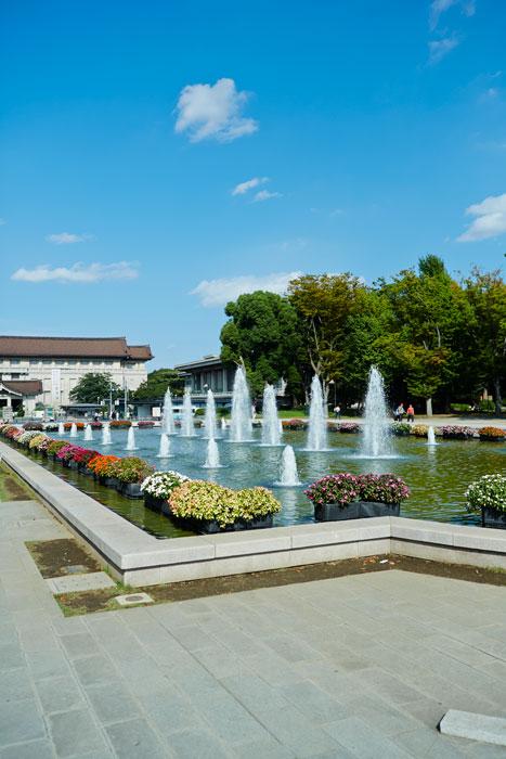 上野恩賜公園 奥に見える建物は東京国立博物館