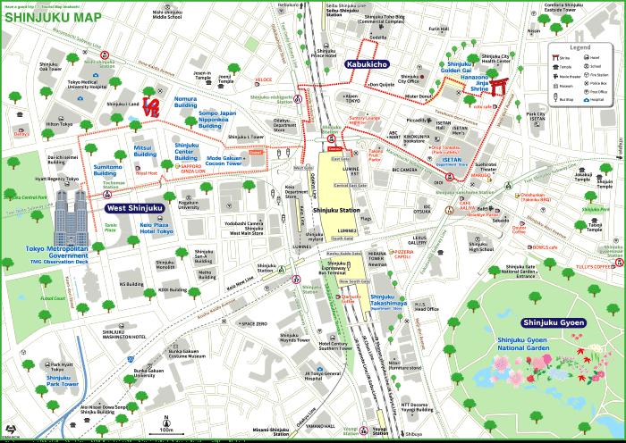 TOKYO SHINJUKU MAP