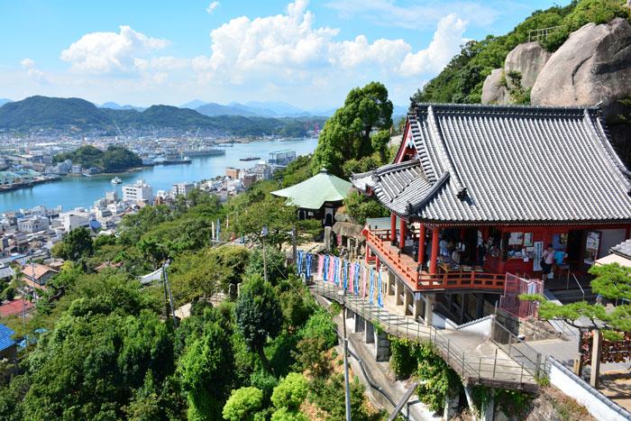ロープウェイから見る千光寺