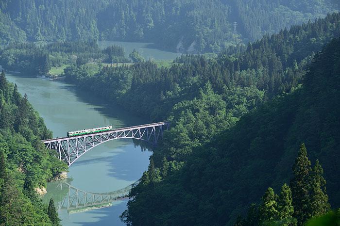 只見第一橋梁と只見線