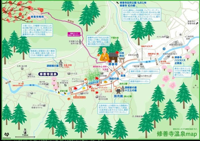 静岡 伊豆 修善寺温泉map