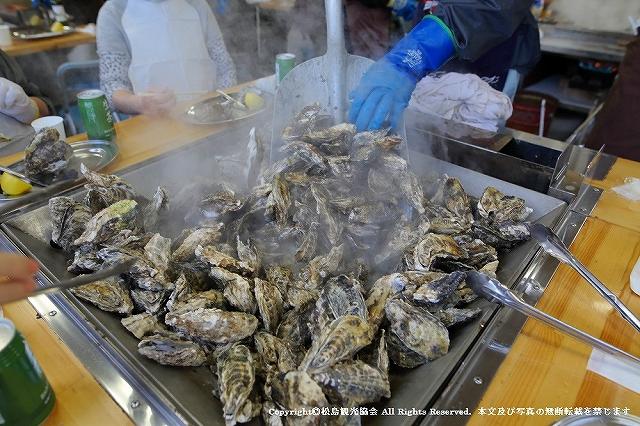 かき小屋で提供している牡蠣(画像提供:松島観光協会)
