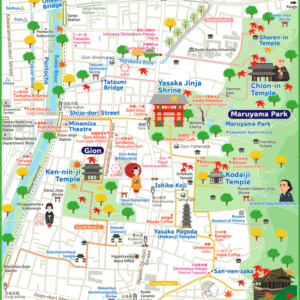 Kyoto Gion Kiyomizudera Map(Tap to open large image.PDF is bottom of the page.)